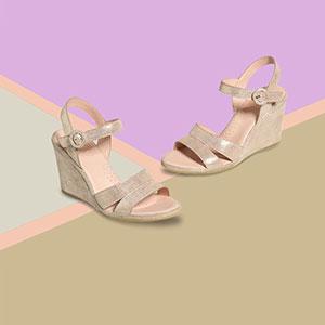 Hydro footwear on geometic background