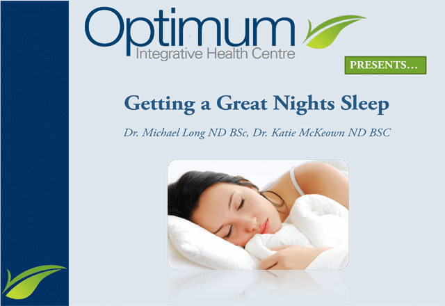 Great Night Sleep - Optimum Integrative