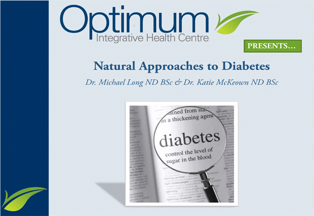 Natural Approaches to Diabetes - Optimum Integrative
