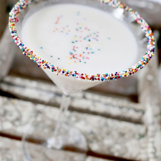 Birthday Cake Martini Cocktail Recipe Onthebar