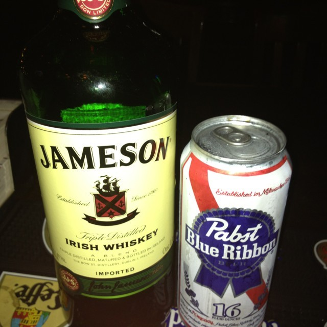 Jameson and pbr cocktail recipe onthebar for Jameson mixed drinks recipes