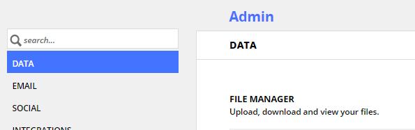 the data tab