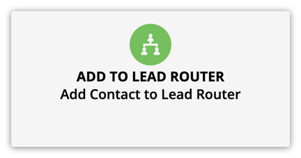 the add to lead router element