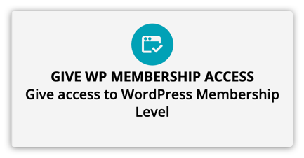 the give wp membership access element