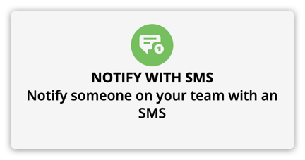 the notify with sms element