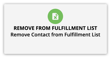 the remove from fulfillment list element