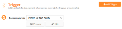 new trigger settings