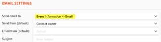 email settings configuration
