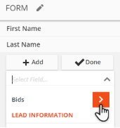 Form field settings