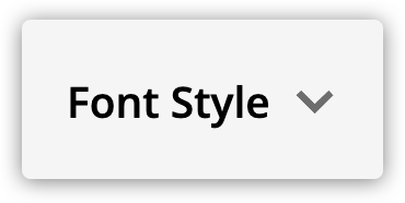the font style button