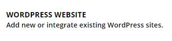 WordPress website button