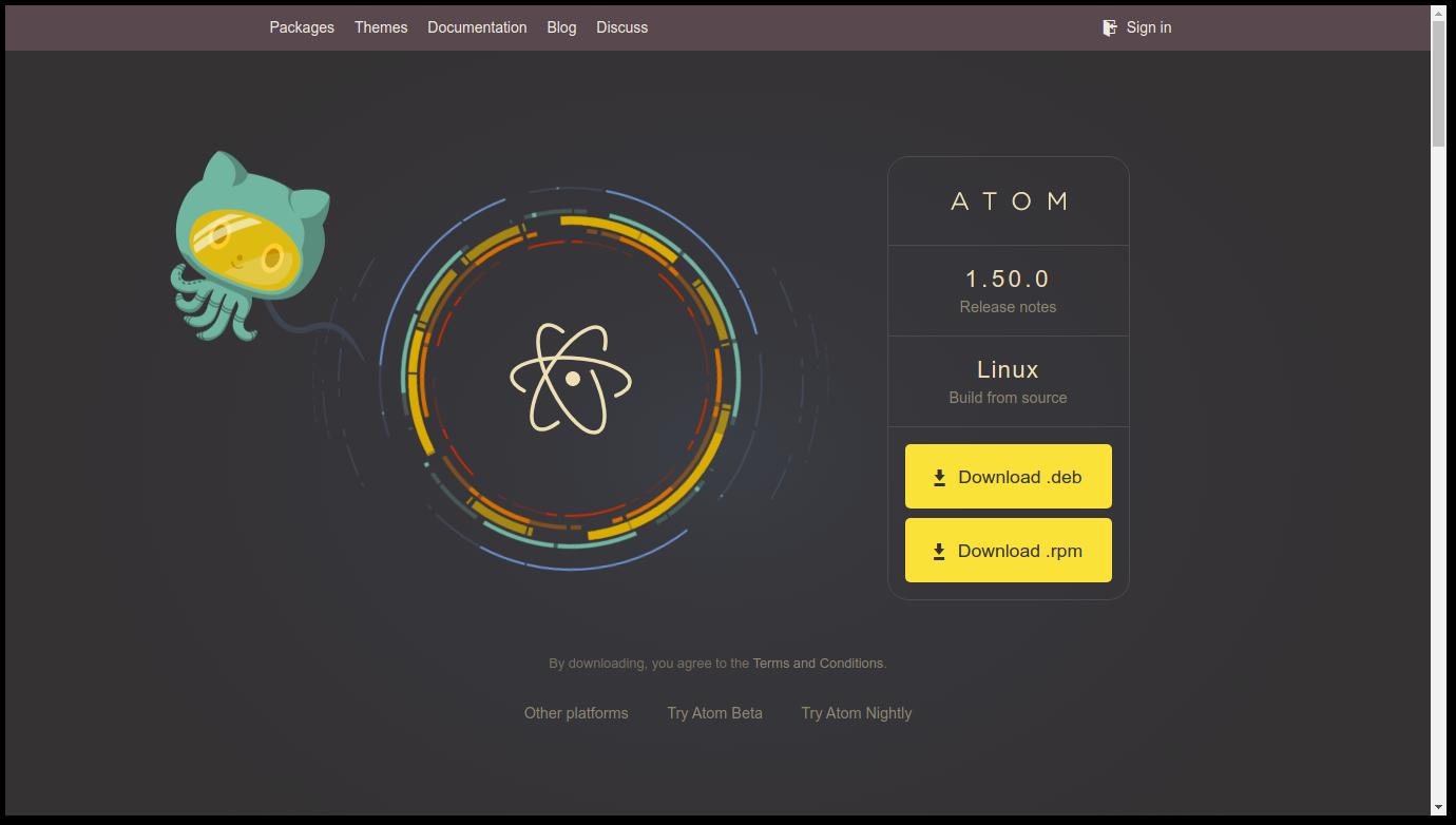 Atom-homepage-view