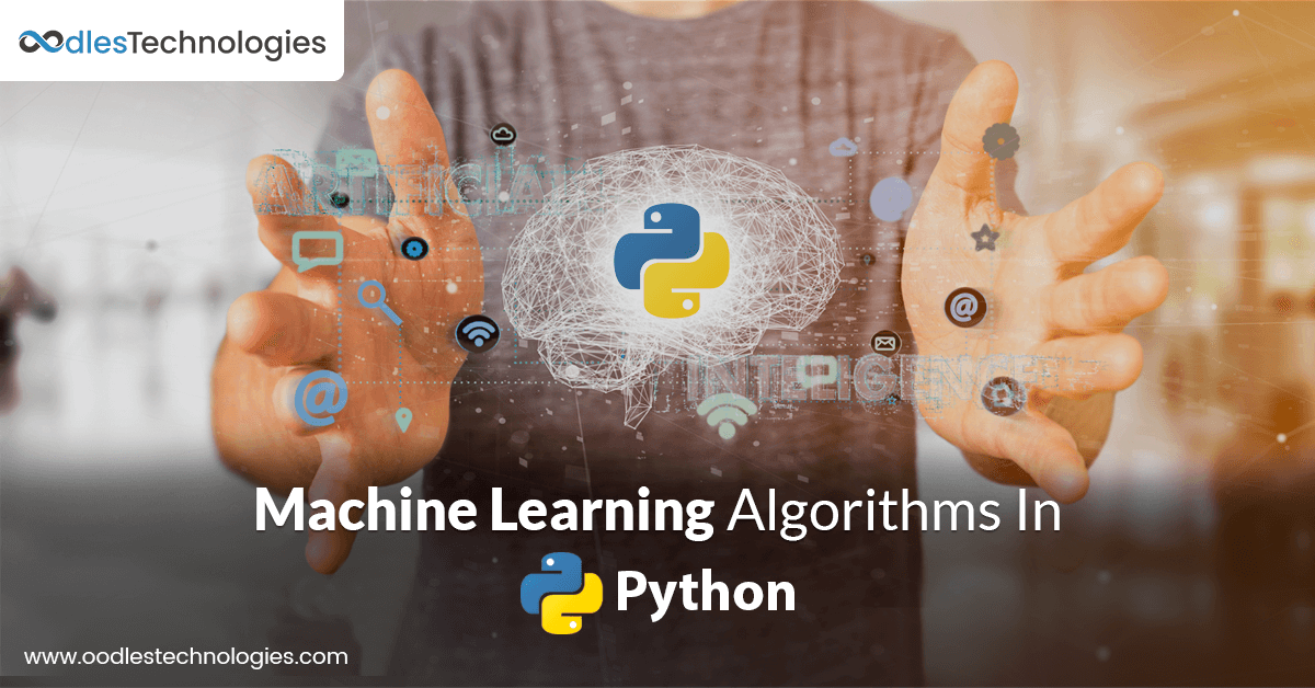 Machine learning algorithms in Python app development