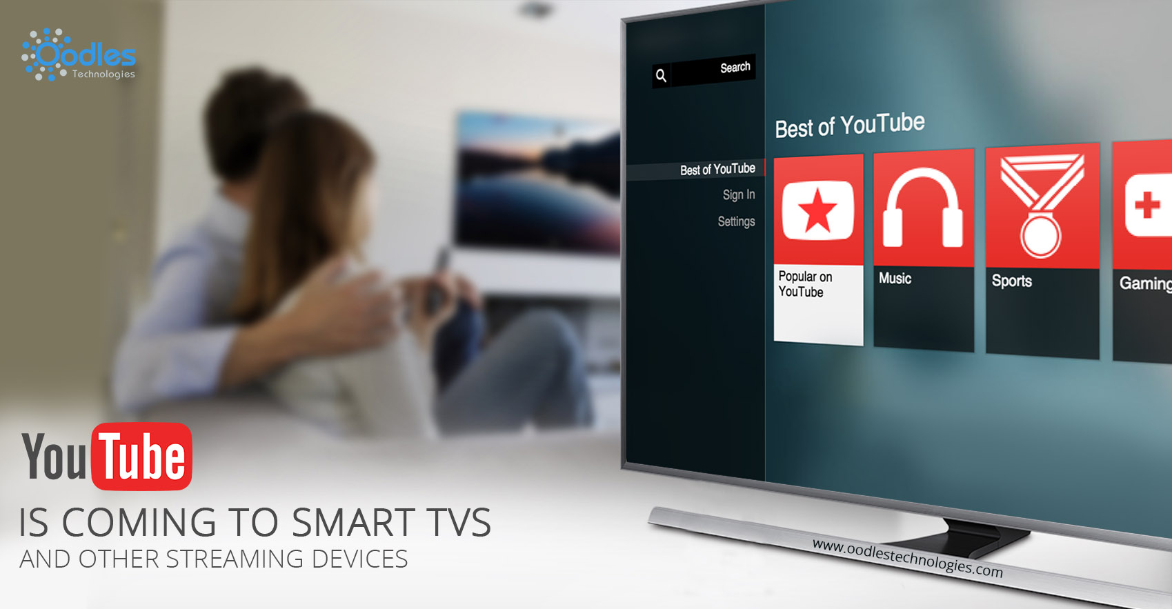 YouTube Is Coming To Smart TVs And Other Streaming Devices