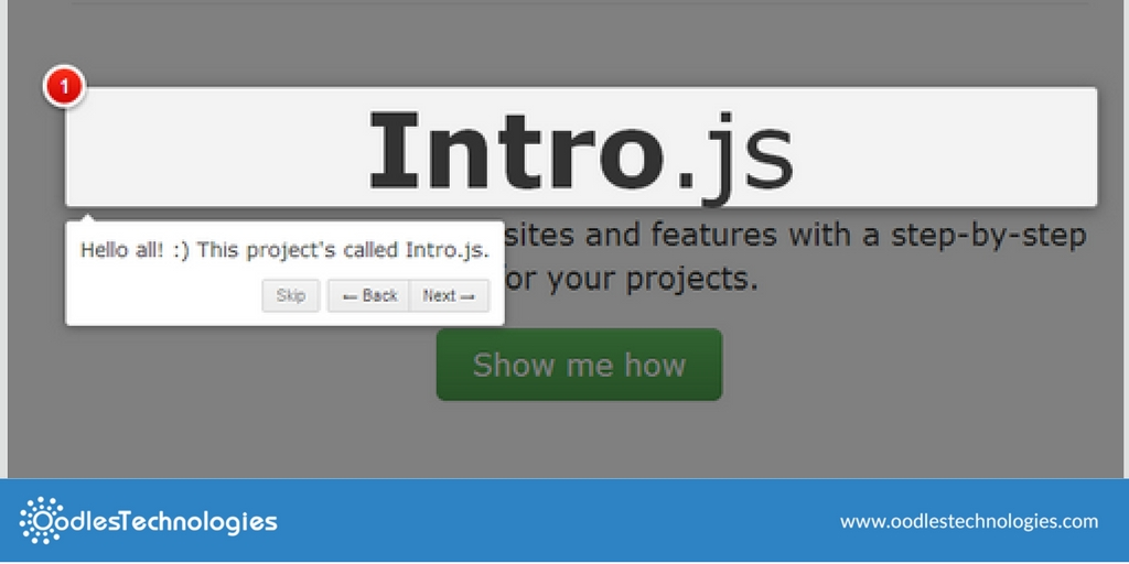 Tutorial To Implement IntroJS