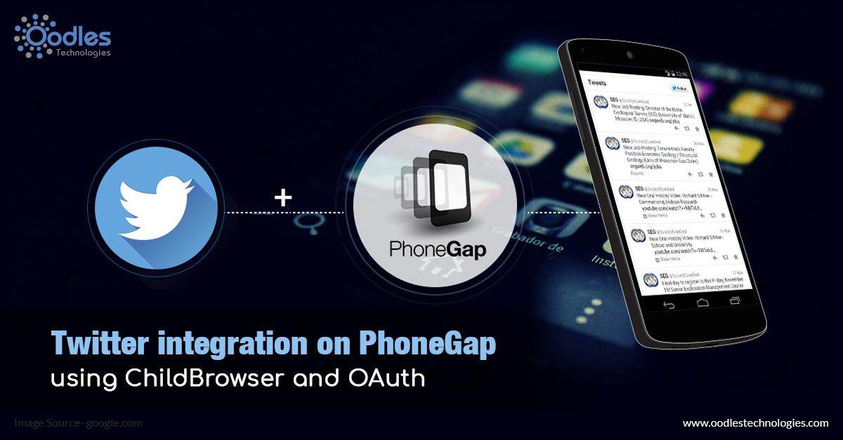 Twitter integration on PhoneGap using ChildBrowzer