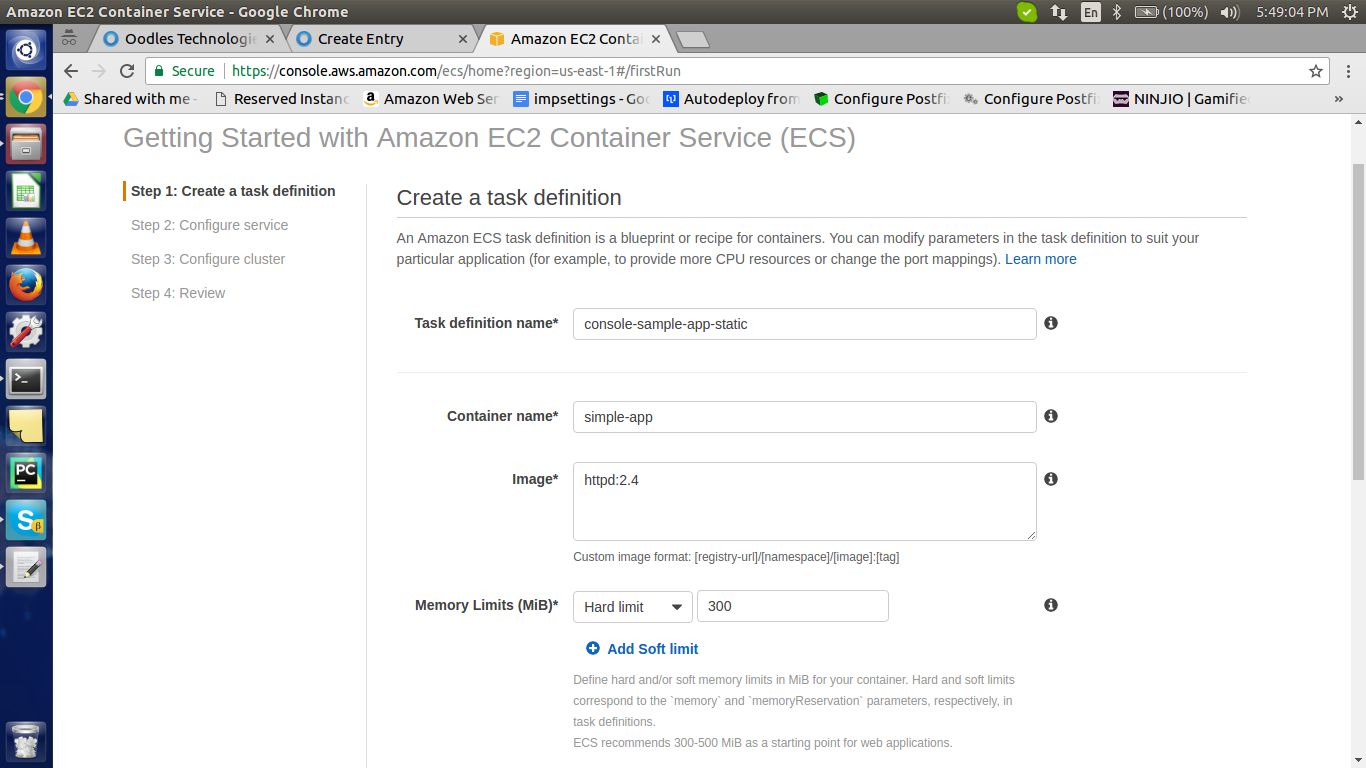 Docker the aws ecs way create task definition task definition defines the structure of ces service blueprint define how other resources will communicate this also contains malvernweather Choice Image