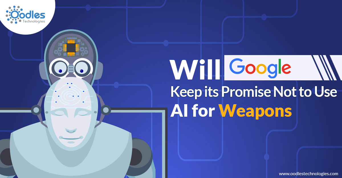 will google keep its promise not to use AI for weapons