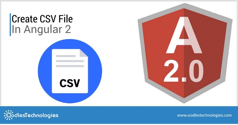 Create CSV file in Angular2