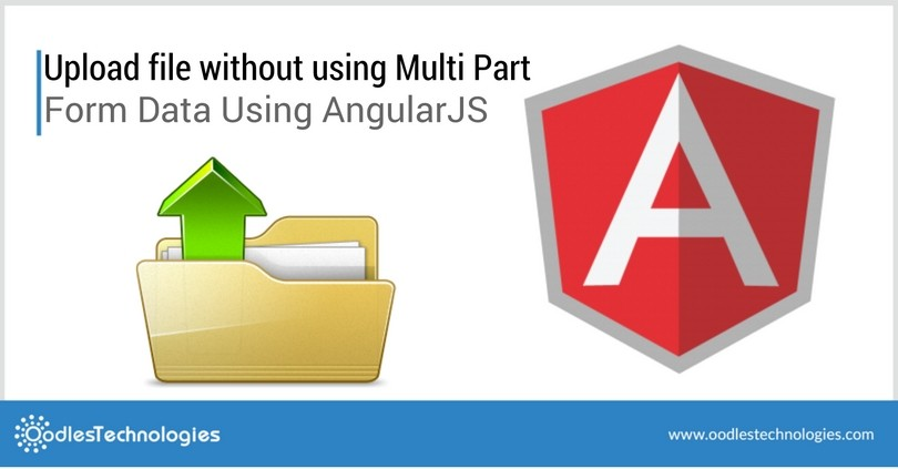 Upload file without using Multi Part form data using AngularJS