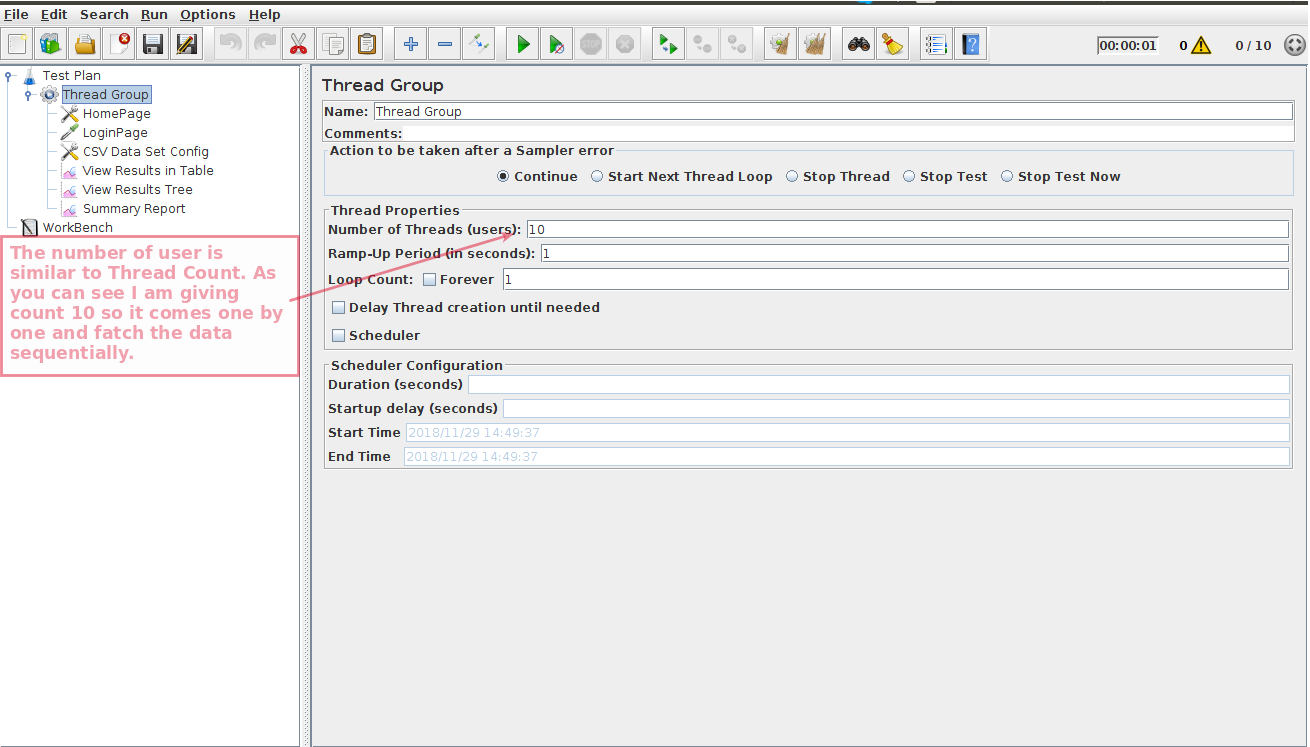 How to Use CSV File for Login Multiple Users through JMeter