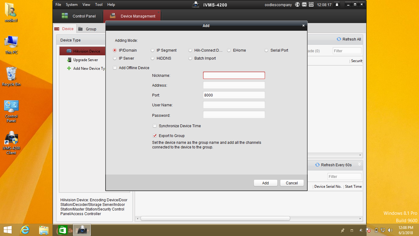 Hikvision DVR Desktop Application View With Hikconnet ID