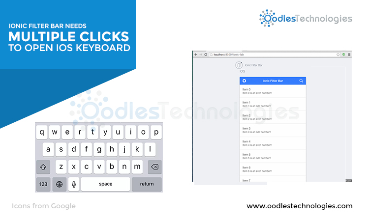 Ionic filter bar needs multiple clicks to open iOS Keyboard