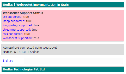 Implementing Reverse Ajax (Comet) in Grails using Websocket