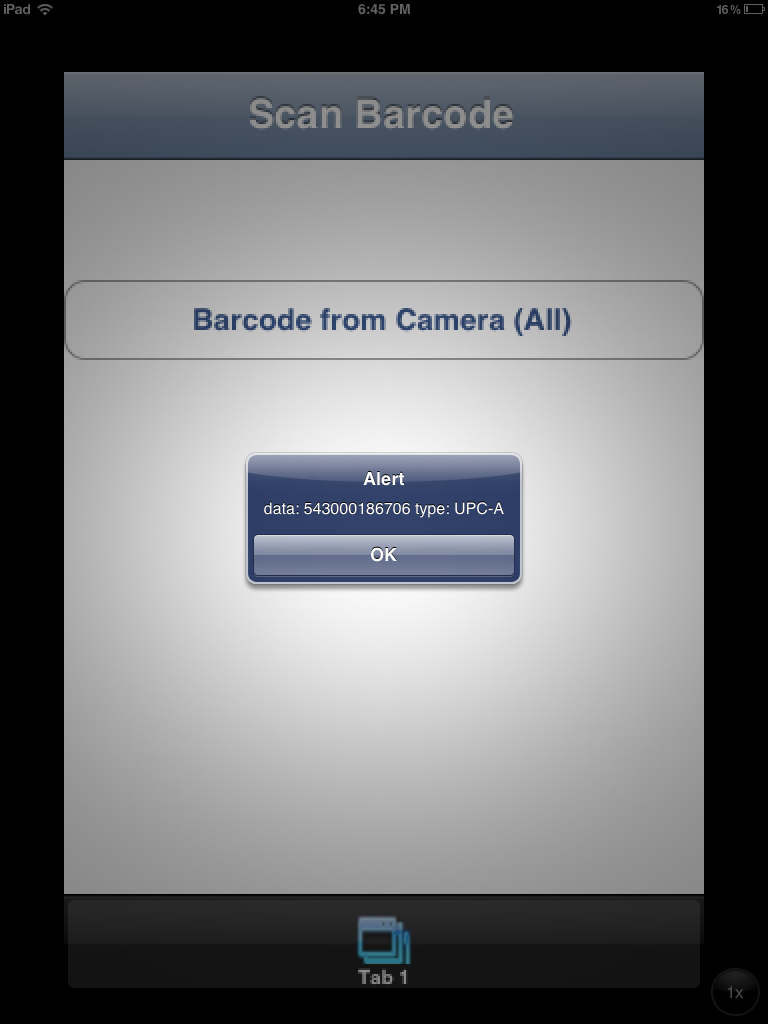 Scan Barcodes through camera in iOS and Android mobile