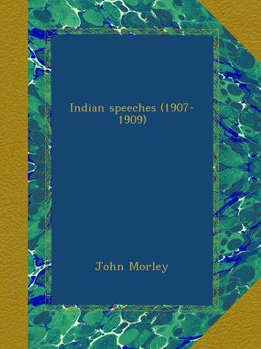 Indian speeches (1907-...