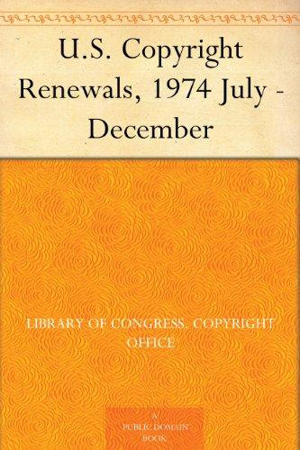 U.S. Copyright Renewal...