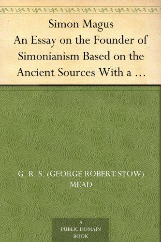 Simon Magus An Essay ...