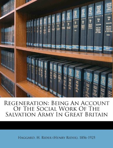 Regeneration Being an...