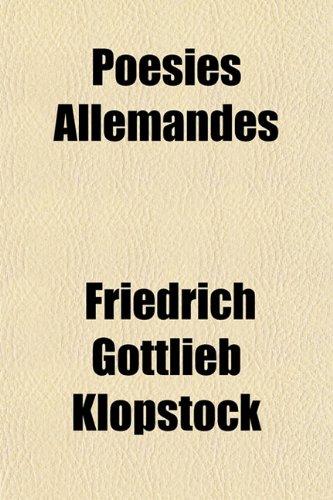 Poésies Allemandes
