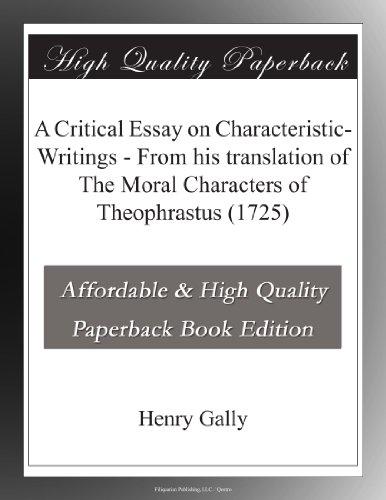A Critical Essay on Ch...