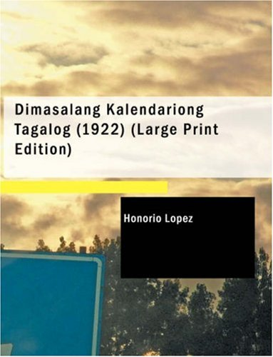 Dimasalang Kalendariong Tagalog (1922)