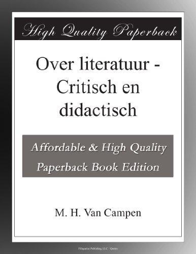 Over literatuur Critis...