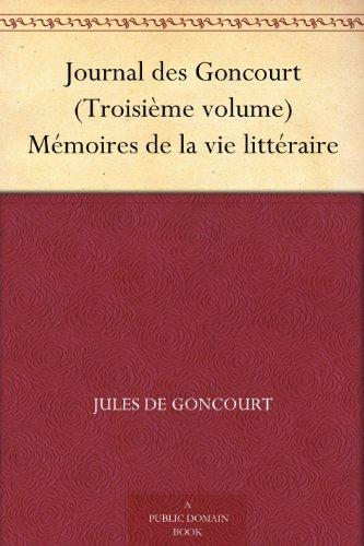 Journal des Goncourt (...