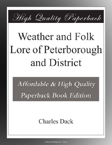 Weather and Folk Lore ...