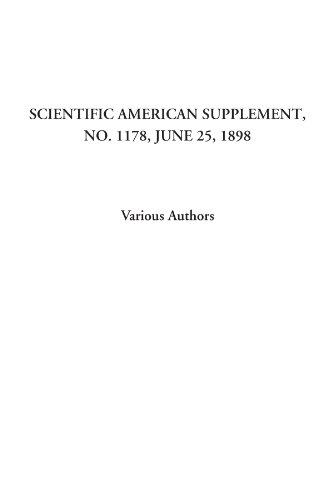 Scientific American Supplement, No. 1178, June 25, 1898
