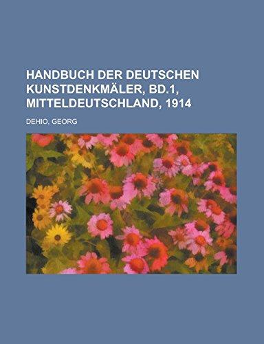 Handbuch der deutschen Kunstdenkmäler, Bd.1, Mitteldeutschland, 1914
