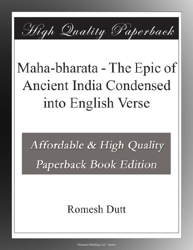 Maha-bharata The Epic ...