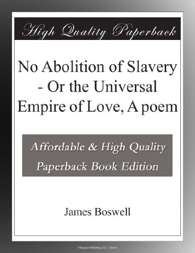 No Abolition of Slaver...