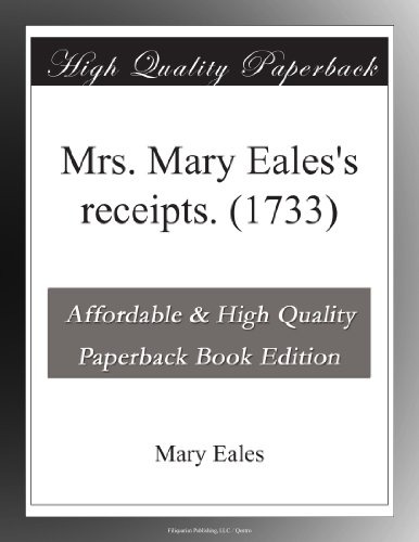 Mrs. Mary Eales's rece...