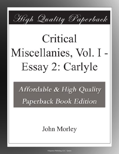 Critical Miscellanies,...