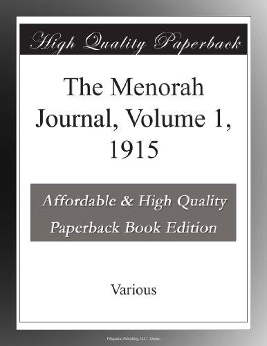 The Menorah Journal, V...