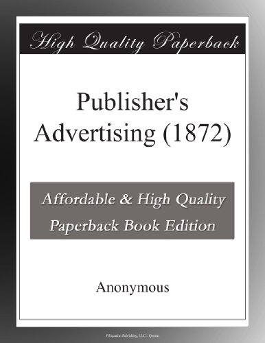 Publisher's Advertising (1872)