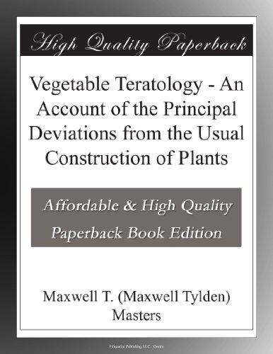 Vegetable Teratology A...