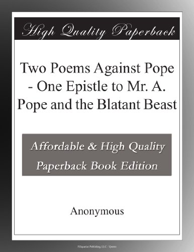 Two Poems Against Pope...