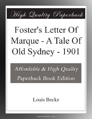 Foster's Letter Of Mar...
